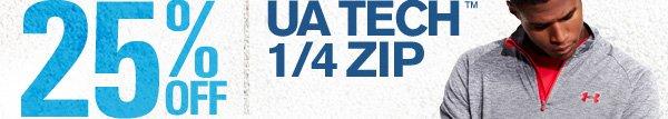25% OFF UA TECH 1/4 ZIP.