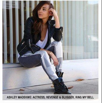 Malhia Kent: The Pieced Skinny in Silver Geo Tweed