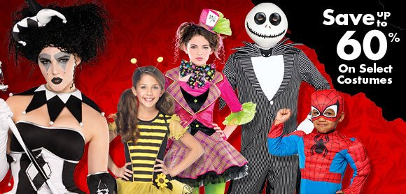 Save up to 60% On Select Costumes