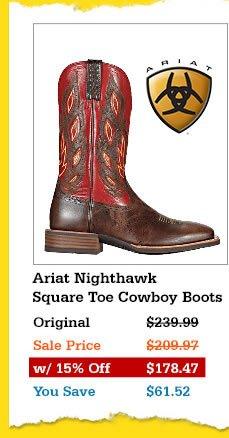 Mens Ariat Nighthawk Cowboy Boots