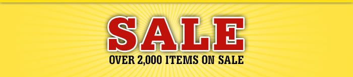 Over 2000 Items on Sale