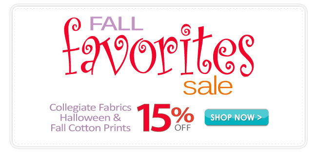 15% off Fall Favorites