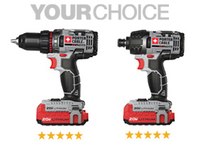 PORTER-CABLE Cordless Lithium Ion Drill/Driver Kit and Hex Drive Cordless Impact Driver