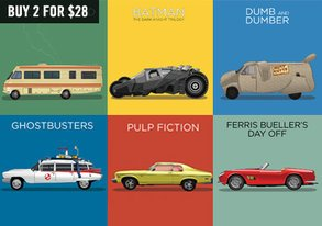Shop Exclusive: Iconic Vehicles in Film