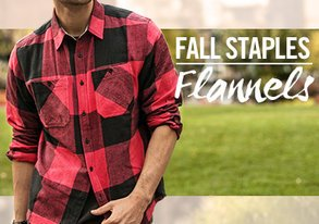 Shop Stock Up on Flannels & Plaids