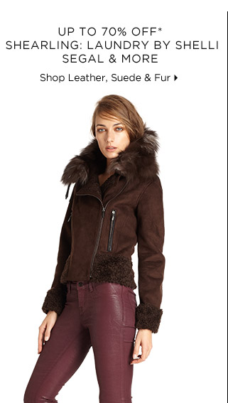 Up To 70% Off* Shearling From Shelli Segal & More