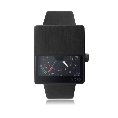 Black Analogue // Black Leather Strap // Black Buckle