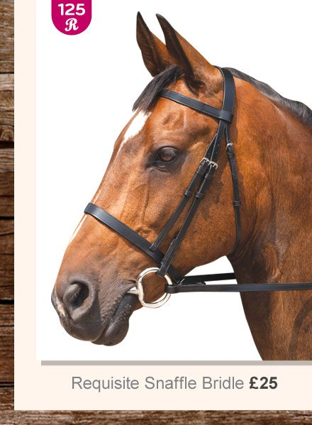 Requisite Snaffle Bridle £25 (Earn 125 Rider Reward points)