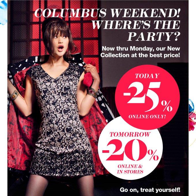 Columbus weekend!