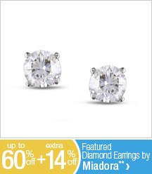 Up to 60% off + Extra 14% off Featued Diamond Earrings by Miadora**