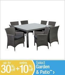 Up to 30% off + Extra 10% off Select Garden & Patio**