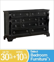 Up to 30% off + Extra 10% off Select Bedroom Furniture**