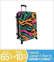 Up to 65% off + Extra 10% off Featured Luggage & Bags by Traveler's Choice**