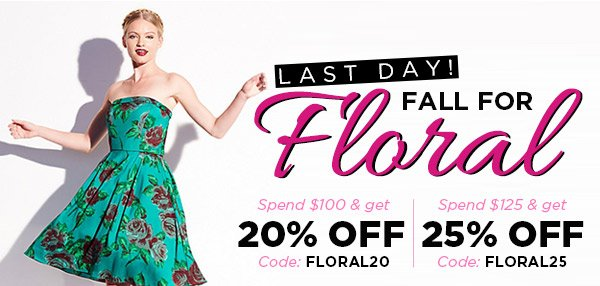 Fall for Floral! Last Day!