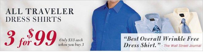 Traveler Dress Shirts - 3 for $99 USD