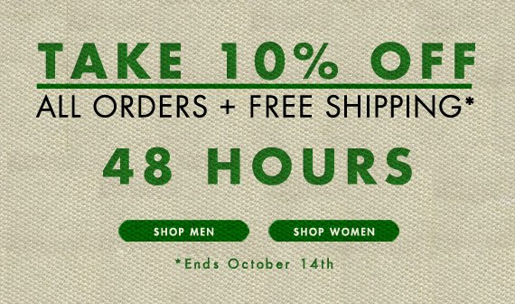 Take 10% off all orders + Free Shipping