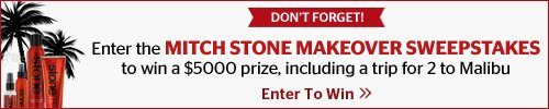 Enter the Mitch Stone Makeover Sweepstakes