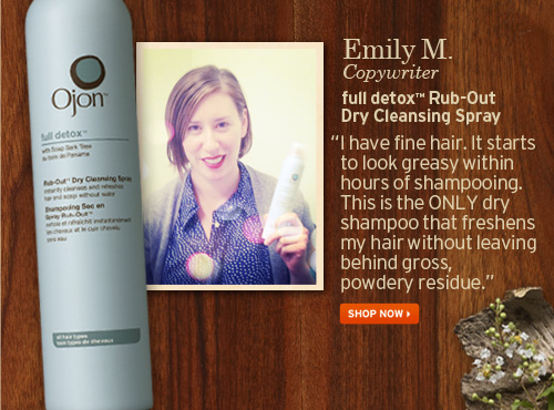 Emily  M Copywriter full detox Rub Out Dry Cleansing Spray SHOP NOW