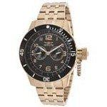 Invicta 14889 Men's Specialty Black Carbon Fiber Dial Rose Gold Steel Dive Watch