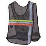 Nathan 2001NB Tri-Color Cross Trainer Reflective Black Safety Vest
