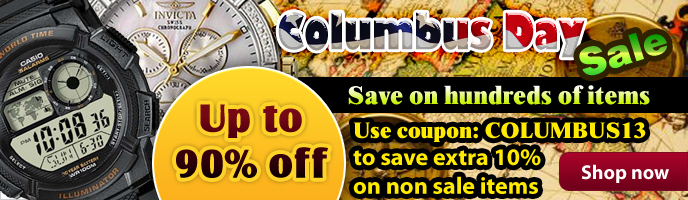 Discount Watch Store Columbus Day Sale