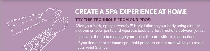 create a spa experience at home.
