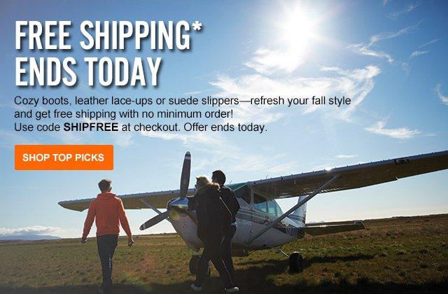 Free Shipping for Columbus Day through Monday.