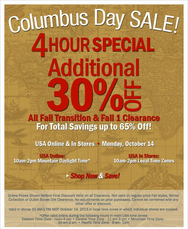30% Off Fall Clearance