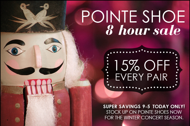Pointe Shoes on Sale 8 Hours Today Only