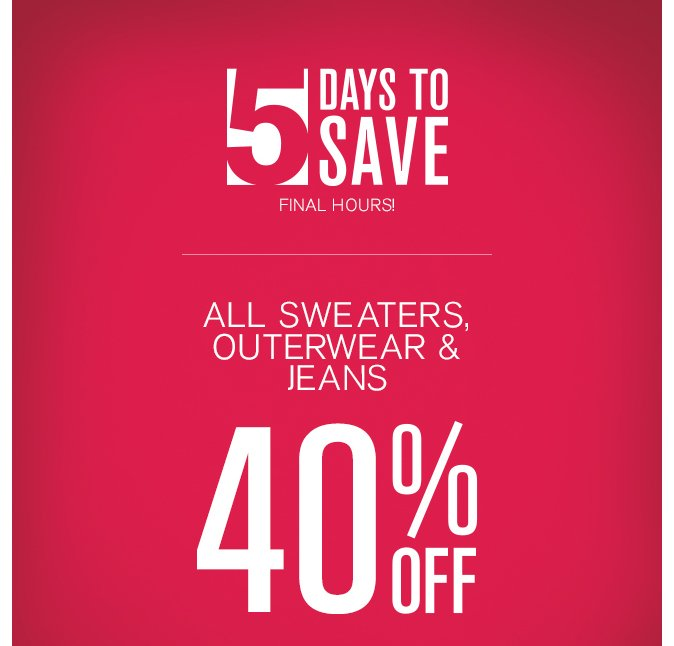 Shop 5 Days to Save