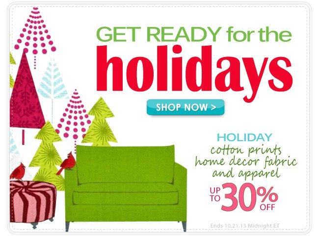 Up To 30% Holiday Fabrics
