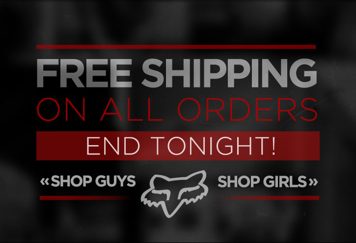 Free Shipping - Ends Tonight