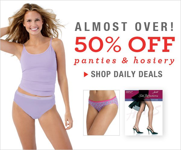 50% Off Women's Panties & Hosiery