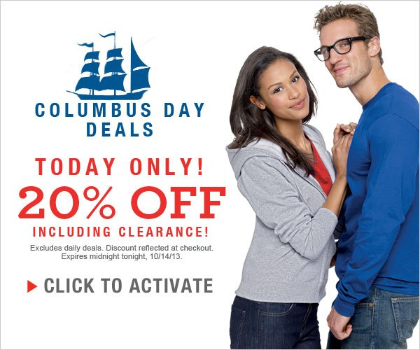 Columbus Day Deals: Extra 20% off