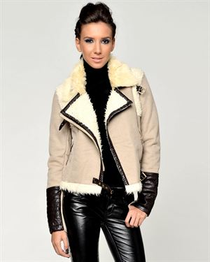Joins Faux Fur Embellished Jacket Made In Italy