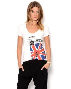 John Galliano Graphic Print T-Shirt- Made in Italy