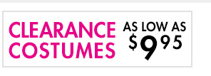 Clearance Costumes as low as $9.95