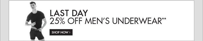 LAST DAY 25% OFF MEN'S UNDERWEAR**