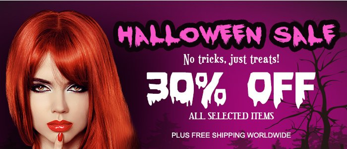 Halloween Sale No tricks, just treats! 30% OFF