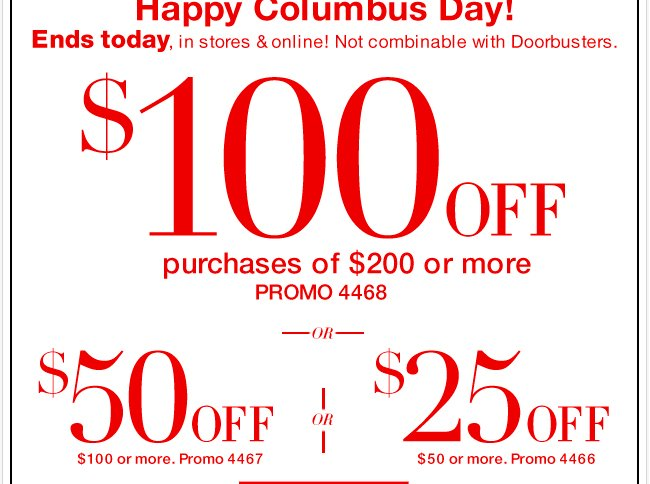 $100 Off Ends Today! Shop  Now