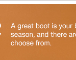 A great boot is your best friend this season, and there are plenty to choose from.