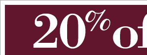 Take 20% Off your entire purchase* now through October 25