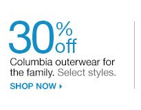 30% off  Columbia outerwear for the family. Select styles. shop now
