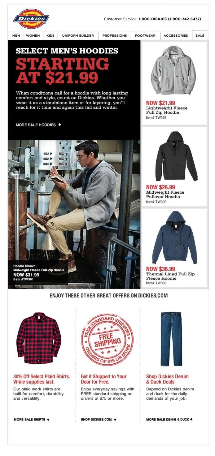 As Low As $21.99 Select Men's Hoodies