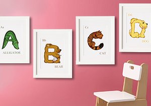Animal Alphabet Nursery Décor