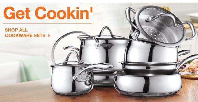 Get Cookin'. Shop all cookware sets
