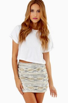 KARI SEQUIN SKIRT 40