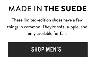 Made in the suede - Shop Men's Suede