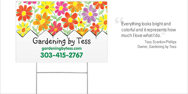 """Everything looks bright and colorful and it represents how much I love what I do."" Tess Scanlon-Phillips Owner, Gardening by Tess"