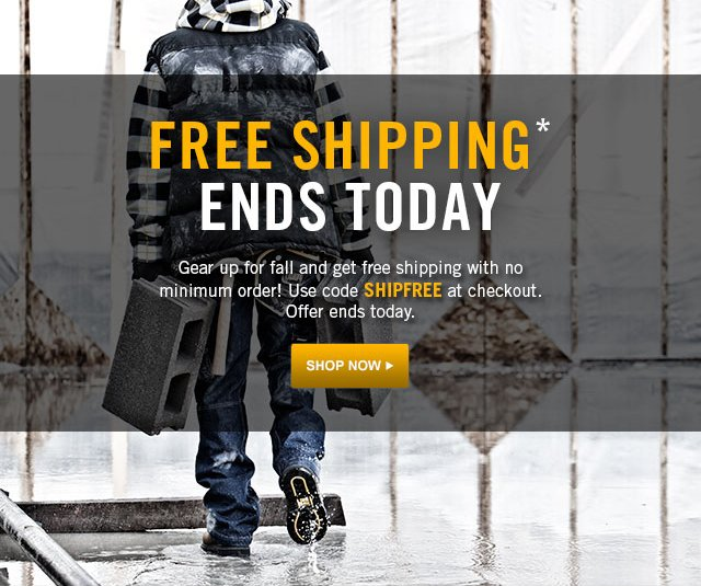Free shipping on fall gear now until Monday.